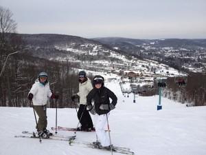 Mom, dad, amy skiing