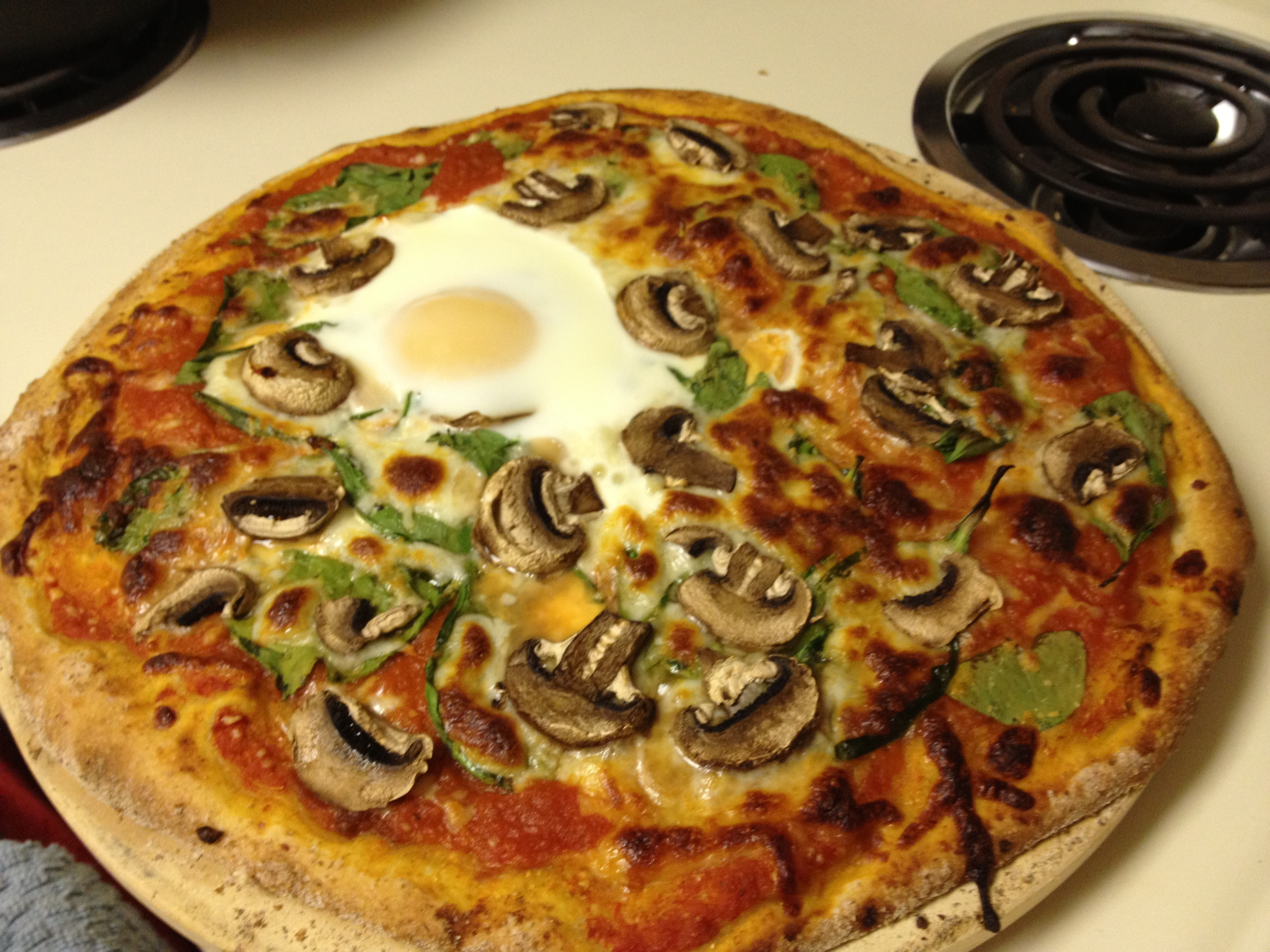 Mushroom and Egg Pizza Recipe