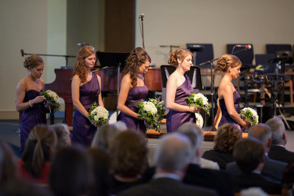 bridesmaids church